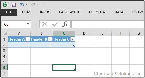 Developer Blog - Resize Excel Table